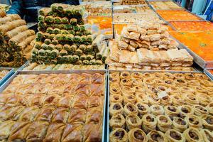 Traditional Israeli sweets in a market in Jerusalem, Israel, Middle East by Alexandre Rotenberg