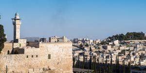 View from Old City of Jerusalem into the outskirts, Jerusalem, Israel, Middle East by Alexandre Rotenberg