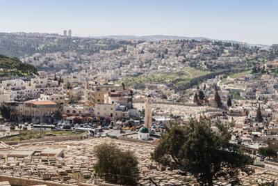 View of a Arab-Israeli neighbourhood, including shops and a mosque, on the outskirts of Jerusalem,  by Alexandre Rotenberg