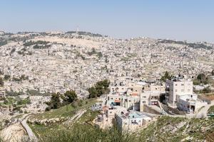 View of outskirts of Jerusalem from the Old City, Jerusalem, Israel, Middle East by Alexandre Rotenberg
