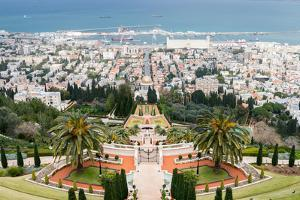 View over the Bahai Gardens, Haifa, Israel, Middle East by Alexandre Rotenberg