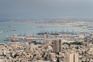 View over the city and port, Haifa, Israel, Middle East by Alexandre Rotenberg