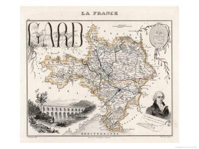 Map of Gard France