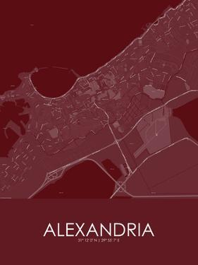Alexandria, Egypt Red Map