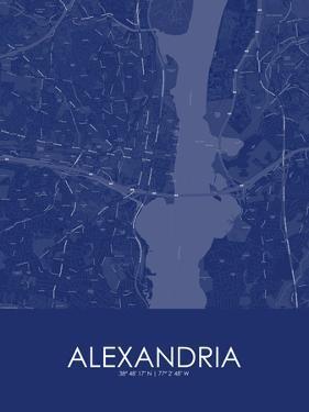 Alexandria, United States of America Blue Map