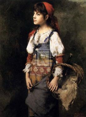 Country Girl by Alexei Alexeivich Harlamoff