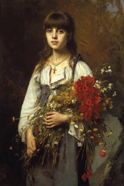 Flower Girl by Alexei Harlamoff