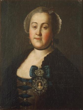 Portrait of Countess Agrippina Leontievna Apraxina, End of 1750S