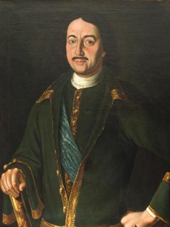 Portrait of Emperor Peter I the Great (1672-172), 1758