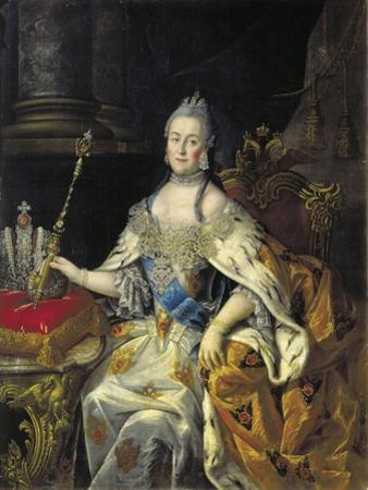 Portrait of Empress Catherine II (1729-179), 1766
