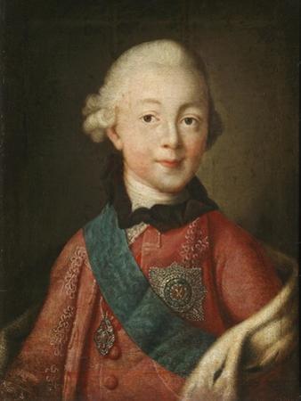 Portrait of Grand Duke Pavel Petrovich (1754-180), 1765