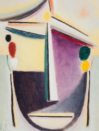 Abstract Head: Black-Yellow-Purple, c.1922