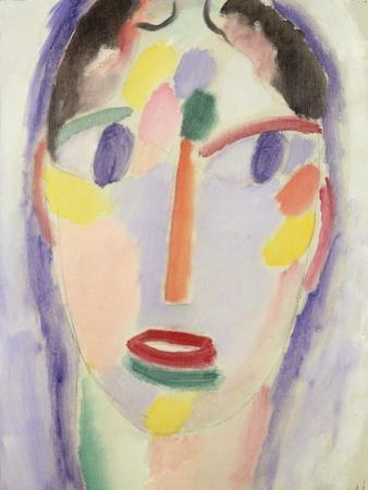 Blue Head; Kopf in Blau, 1918