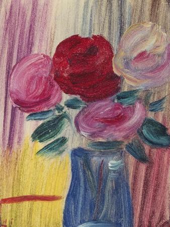Flowers in Blue Vase; Blumen in Blauer Vase, 1936