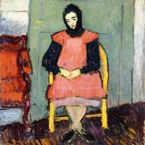 Girl in Yellow Chair, 1906-07 by Alexej Von Jawlensky