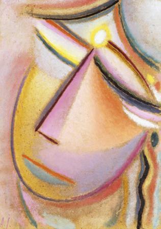 Heilandsgesicht: Neigender Kopf, 1923