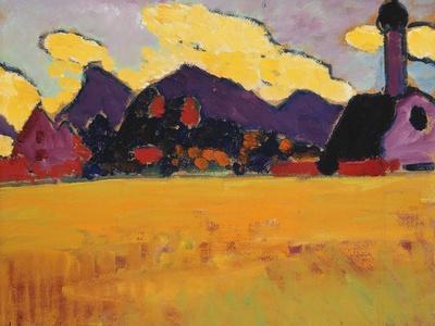Landscape Near Murnau; Landschaft Bei Murnau, C.1910