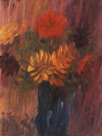 Large Still Life: Red and Yellow Dahlia; Grosses Stilleben: Rote Und Gelbe Dahlien, 1937