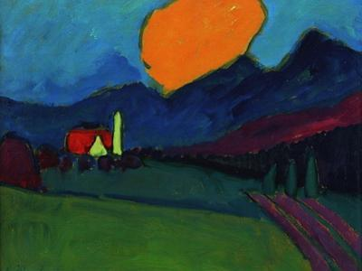 Murnau - Landscape Orange Cloud, c.1909