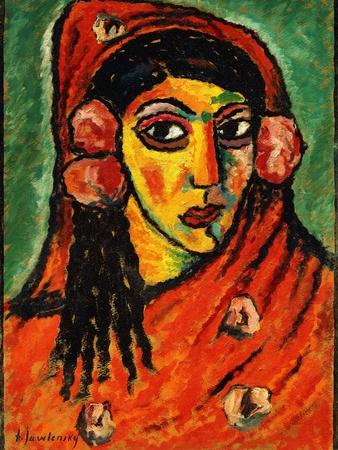 Spanish Girl with a Red Scarf; Spanierin Mit Rotem Schal, C.1912