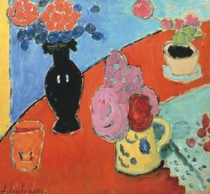 Still life with Vase and Jug by Alexej Von Jawlensky