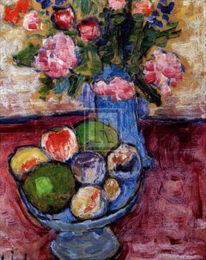The Blue Vase by Alexej Von Jawlensky