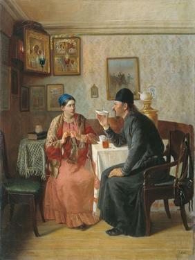 Tea Drinking, 1895 by Alexey Avvakumovich Naumov