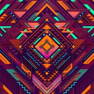 Futuristic Colorful Pattern. Triangles, Diamond and Sharp Angles. by Alexey Romanowsky