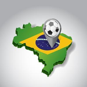 Brazil. Brazilian Soccer Concept Illustration by alexmillos