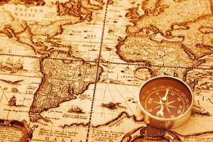 Compass On Old Map by AlexStar