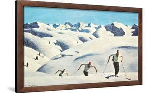 The Ascent of the Skiers (landscape) by Alfons Walde