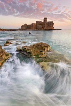 Italy, Calabria, Crotone, Sunset at Le Castella by Alfonso Morabito