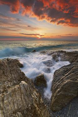 Italy, Calabria , Sunset at Leucopetra Cliff by Alfonso Morabito