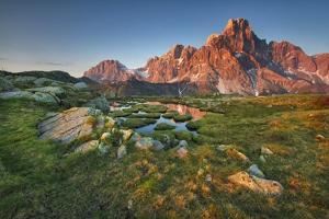 Italy, Dolomites, Trentino Alto Adige, Pale Di San Martino Mountains by Alfonso Morabito