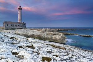 Italy, Sicily, the Santa Croce Lighthouse in Augusta, Taken at Sunset by Alfonso Morabito