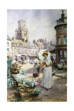 The Flower Market by Alfred Augustus Glendening II