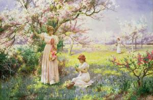 Spring: Picking Flowers, 1898 by Alfred Augustus Glendenning