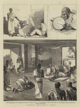 A Buddhist Ordination in Ceylon by Alfred Chantrey Corbould