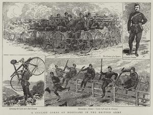 A Cyclist Corps of Regulars in the British Army by Alfred Chantrey Corbould