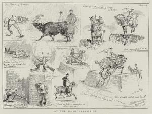 At the Irish Exhibition by Alfred Chantrey Corbould