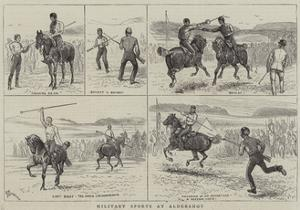 Military Sports at Aldershot by Alfred Chantrey Corbould