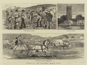 Notes at the Banwell Horse Show by Alfred Chantrey Corbould