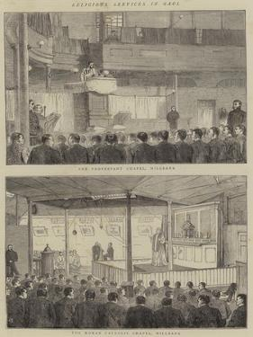 Religious Services in Gaol by Alfred Chantrey Corbould