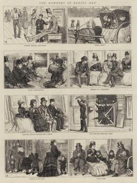 The Humours of Boxing Day by Alfred Chantrey Corbould