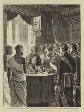 The Prince of Wales in Ceylon, Kandy, the Buddhist Priests Exhibiting Buddha's Tooth to the Prince by Alfred Chantrey Corbould