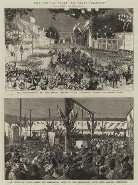 The Royal Visit to India, Bombay by Alfred Chantrey Corbould