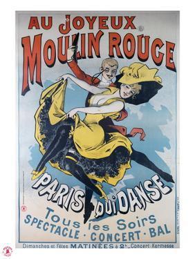 1896- Au Joyeux Moulin Rouge - Choubrac by Alfred Choubrac