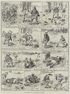 A Day's Sport, Mr Stodge after the Rabbits by Alfred Courbould