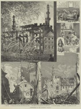 Destruction of the Alhambra Theatre by Alfred Courbould