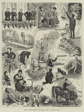 Holiday Entertainments, Our Artist's Notes at Hengler's Circus by Alfred Courbould